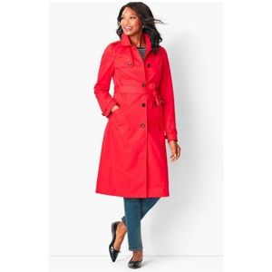 Talbot's Red Refined Cotton Trench Coat